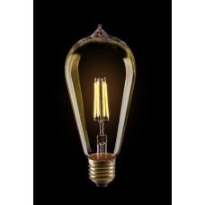 Колба  светодиодный лофт GOLD  ST64  4W  Е27  2800К   VG10-ST64Gwarm4W