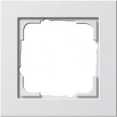 Рамка 1-постовая Gira E2 чисто-белый глянцевый 021129