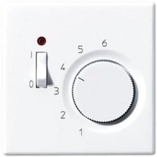 Накладка термостата комнатного с выключателем Jung LS 990 белая LSTR231PLWW