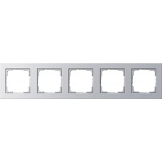 Рамка 5-постовая Gira E2 алюминий 021525