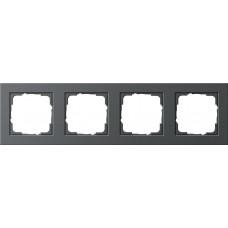 Рамка 4-постовая Gira E2 антрацит 021423