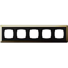 Рамка 5-постовая Gira ClassiX латунь/черный 0215632