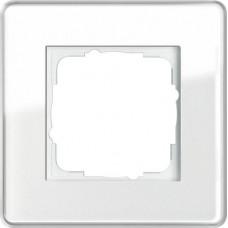Рамка 1-постовая Gira Esprit C белое стекло 0211512