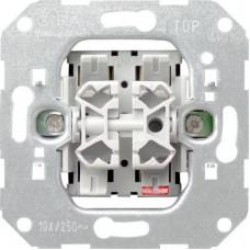 Выключатель двухклавишный Gira System 55 10A 250V 010500
