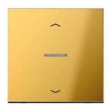 Накладка нажимного электронного жалюзийного выключателя Jung LS 990 блеск золота GO5232