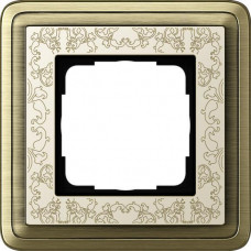 Рамка 1-постовая Gira ClassiX Art бронза/кремовый 0211663