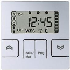 Накладка жалюзийного выключателя Стандарт с таймером Jung A 500 алюминий A5232STAL