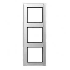 Рамка 3-постовая Jung A 500 алюминий A583AL