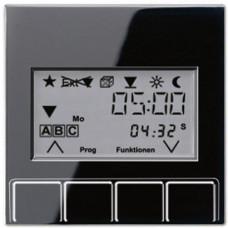 Накладка жалюзийного выключателя Универсал с таймером Jung A 500 черная A5232T3SW
