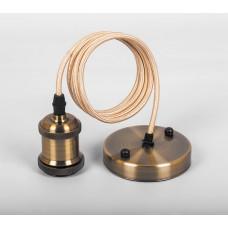 Патрон для ламп Feron LH128 со шнуром 1,4м 230V E27 черное золото