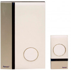 Звонок дверной беспроводной Feron W-628 Электрический 32 мелодии белый серебро с питанием от батареек