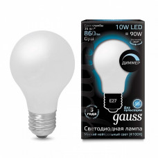 Лампа светодиодная диммируемая Gauss 1022 E27 10Вт 4100K 102202210-D