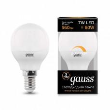 Лампа светодиодная диммируемая Gauss 1051 E14 7Вт 3000K 105101107-D