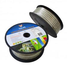 Лента светодиодная (бобина) ULS-Q215 5050-30LED/m-14mm-IP67-220V-7,2W/m-50M-RGB