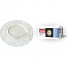 Светильник встраиваемый декоративный ТМ Fametto DLS-L202 GU5.3 CHROME/WHITE