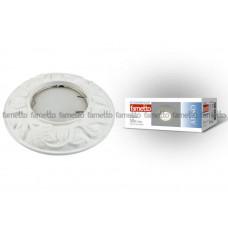 Светильник встраиваемый декоративный ТМ Fametto DLS-A101 GU5.3 WHITE, серия Arno. Без лампы, цоколь GU5.3. Цинковый сплав, цвет белый. Штампованный.