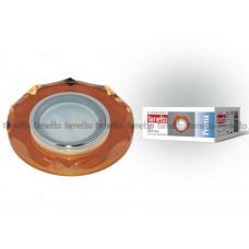 Светильник встраиваемый декоративный многоугольник ТМ FamettoDLS-P105 GU5.3 CHROME/BRONZE, серия Peonia. Без лампы, цоколь GU5.3. Основание металл, цвет хром.
